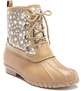 27152910e7fa Amazon.com | Botique Girls Duck Boot with Glitter (10, Pink) | Boots