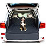 Jespet Luxury Fitted Dog Car Seat Cover Nonslip Rubber Backing with Anchors Universal Design for Cars, Trucks and SUVs – Black – USA Based Company
