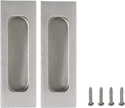 Tirador de puerta corredera rectangular con 2 piezas de tornillos ocultos: Amazon.es: Bricolaje y herramientas