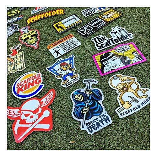 (40+) Scaffolder Hard Hat Stickers Hardhat Sticker & Decals, Scaffold Carpenter by Unknown (Image #2)