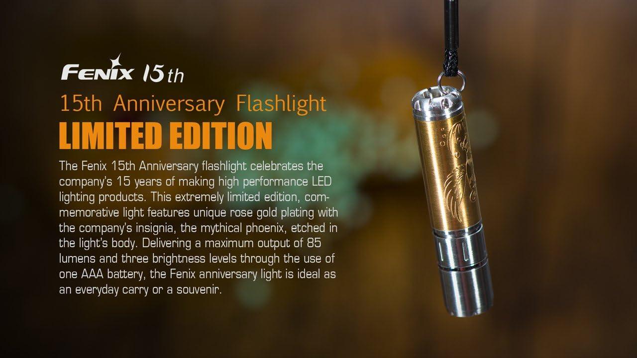 Fenix 15th Anniversary Limited Edition Cree XP-E2 LED AAA EDC Flashlight Torch