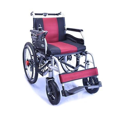 HT BEI Silla de Ruedas, Silla de Ruedas eléctrica de Cuatro Ruedas para discapacitados,