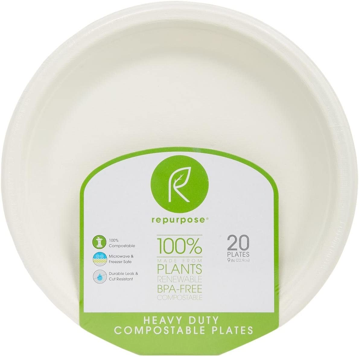 """Repurpose, 9"""" Eco-Dinner Plates, 20 Count: Health & Personal Care"""