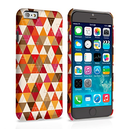 Caseflex iPhone 6 Plus / 6S Plus Hülle Gelb / Rot Geometrisch Dreiecke Muster Hart Schutzhülle (Kompatibel Mit iPhone 6 Plus / 6S Plus - 5.5 Zoll)