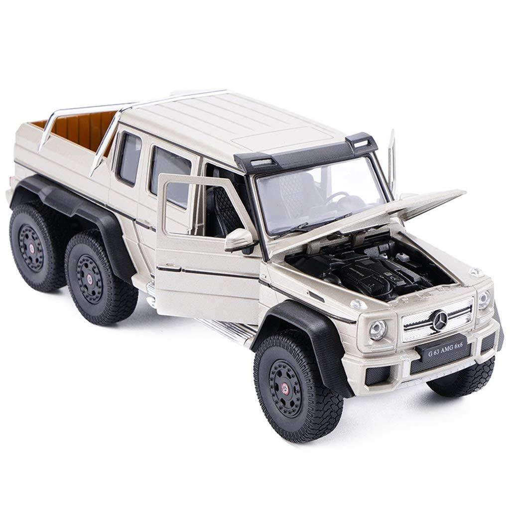 Yxsd 1 24 échelle moulée sous Pression Grand modèle de véhicule Hors Route Mercedes-Benz G63 6  6 AMG - Simulation en Alliage modèle de Voiture Toy Decoration - Or