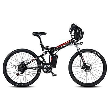 Yrwj Folding Electric Mountain Bike Removable Lithium Battery Power