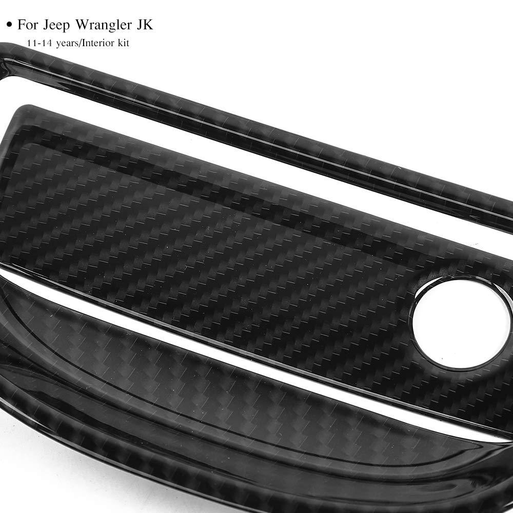 10 PCS Voodonala Interior Accessories Decorative Trim Kit for Jeep Wrangler JK JKU 2011-2017