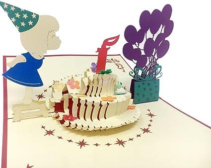 Amazon Com Pop Bunny Birthday Card Happy Birthday Card Pop Up