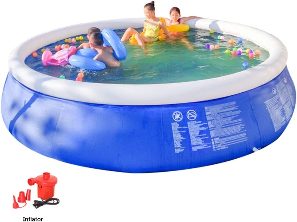 Piscina Inflable Espesado de niños Piscina Inflable hogar for Adultos Piscina for niños de Gran tamaño al Aire Libre Espesado Piscina (Color : Blue, Size : 246 * 66cm)