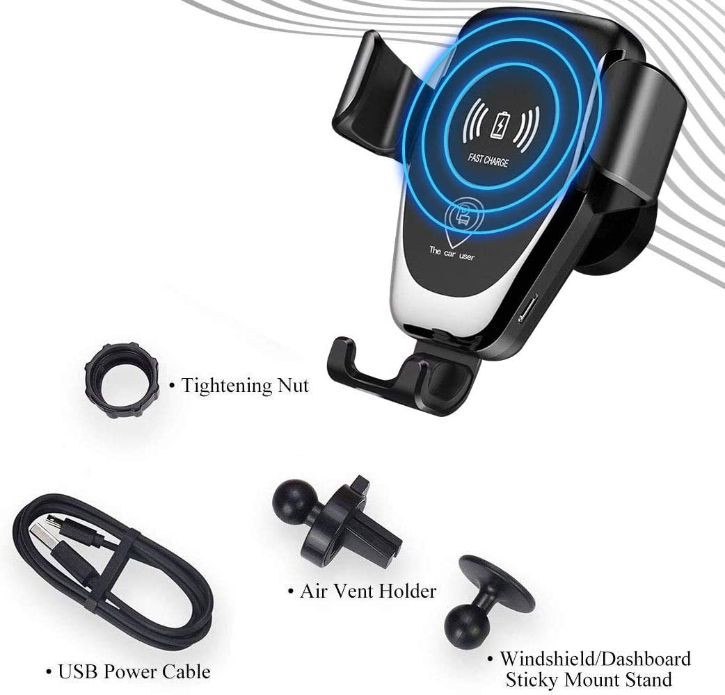 10W Fast Charging for Samsung Galaxy S9 S8 S7 Note 8 Dkaile Wireless Charger Car Mount One-Hand Auto Clamping Air Vent Phone Holder 7.5W Compatible with iPhone Xs XR X 8 and Qi Enabled Devices.