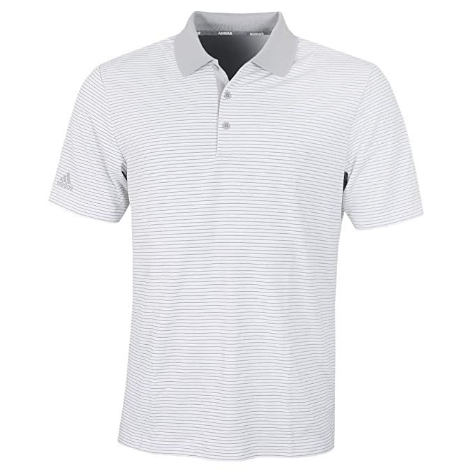 adidas Herren Performance Stripe Polo Shirt Poloshirt