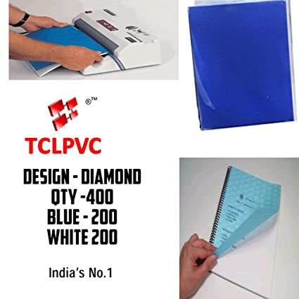TCLPVC Triple Profit 400 Blue White Binding Cover Sheets for Spiral Binding  Machine Comb Machine - Punching Machine Code – Budget4500