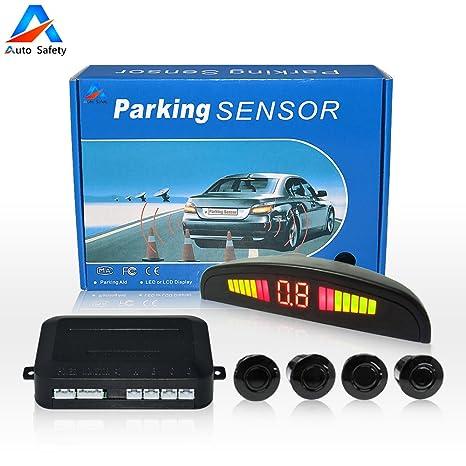 Auto Safety Sensor Aparcamiento Copia De Seguridad Radar Sistema Indicador de LUZ LED Sonido De alerta