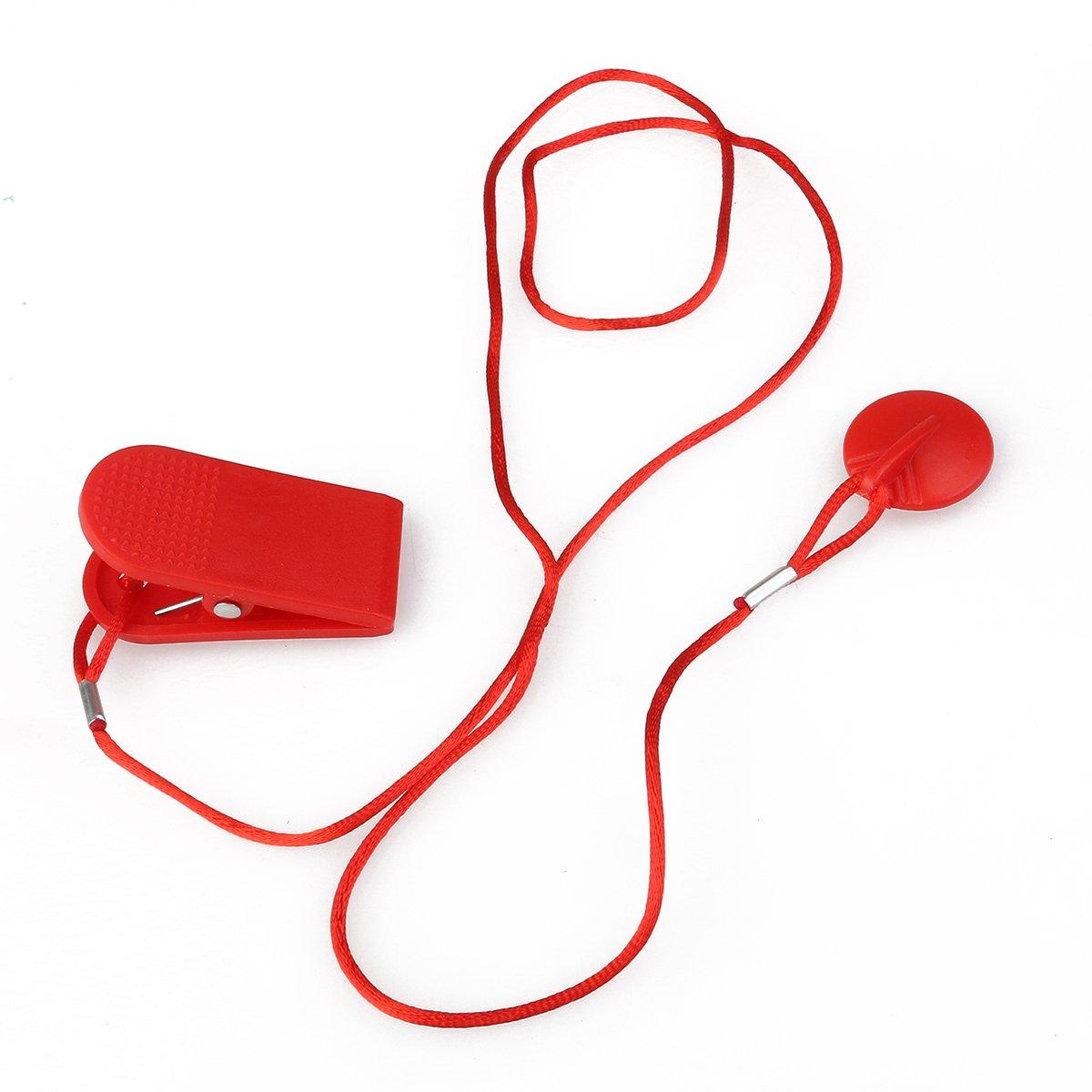 winomo magnétique Course Laufen Machine Clé de sécurité de rechange Interrupteur de sécurité–2,3cm de diamètre (Rouge)