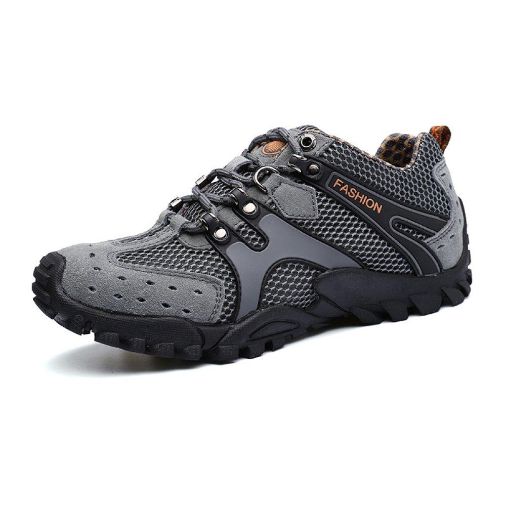 HGDR Zapatos De Trekking De Trekking Al Aire Libre De Verano Zapatos De Malla con Cordones Zapatos De Agua Transpirables Escalada Camping Zapatillas Antideslizantes,Grey-42=260mm 42=260mm Grey