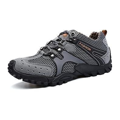 c6b6d625e53d6 Hommes D été en Plein Air Randonnée Trekking Chaussures à Lacets Maille Respirante  Chaussures De