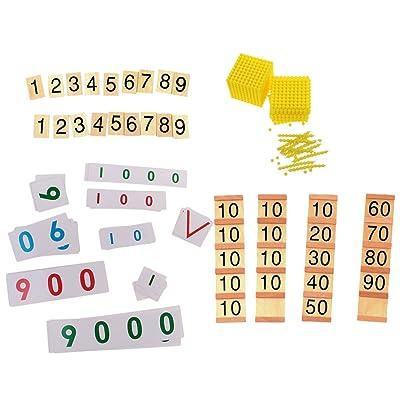 Sharplace Set de Jouet Bancaire Montessori Jeux d'éveil Placnde de Numéro Pièce Numéro Jouet pour Débutant