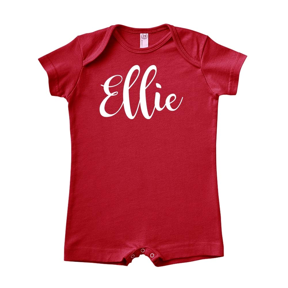 Personalized Name Baby Romper Mashed Clothing Ellie