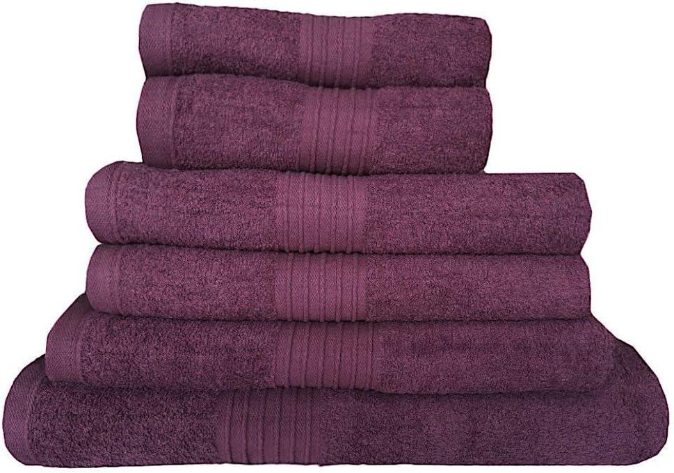 1 Bath Sheet Black 100/% Cotton 6 Piece Towels Set Includes 2 Hand Towel 2 Bath Towel 1 Jumbo Bath Sheet Soft Aborbent High Quality