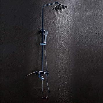 Conjunto de ducha de aluminio para baño de ducha cuadrado, columna ...
