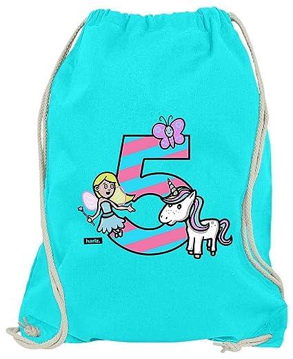 Hariz Bolsa de Deporte, Unicornio, Princesa, 5 cumpleaños ...