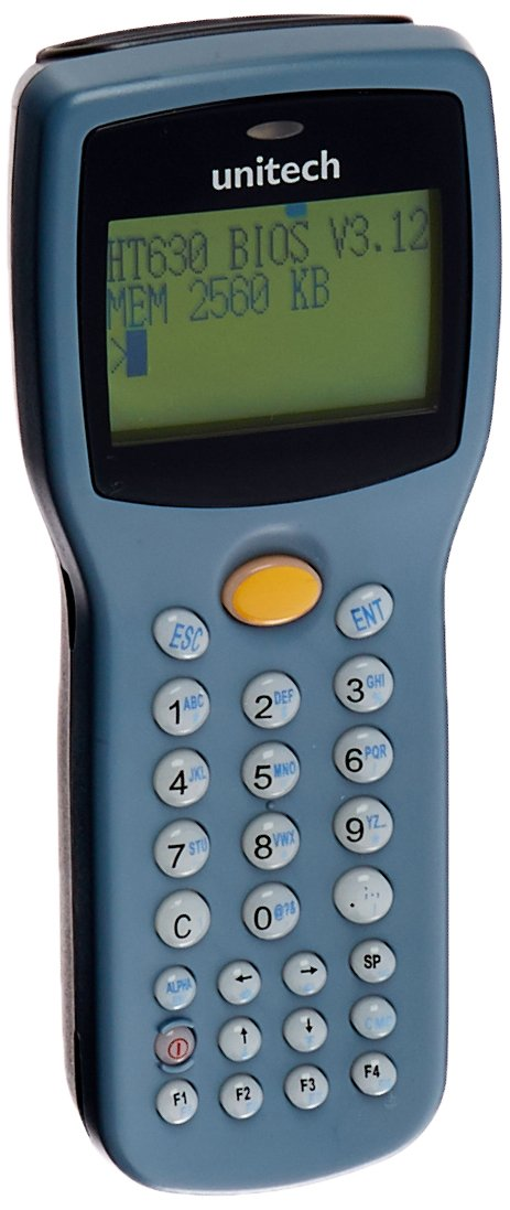 Unitech HT630-9000BADG HT630 Mobile Computer, 2.5MB RAM, Laser, Batch, DOS, Battery, USB Cable, Power Adapter