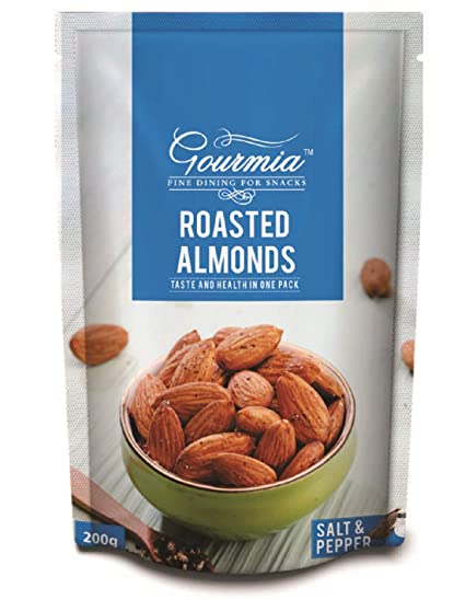 Gourmia Roasted Almonds, Salt and Pepper, 200g