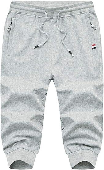 ROBO Jogging Hombre Pantalones Deportivos Cortos de Punto ...