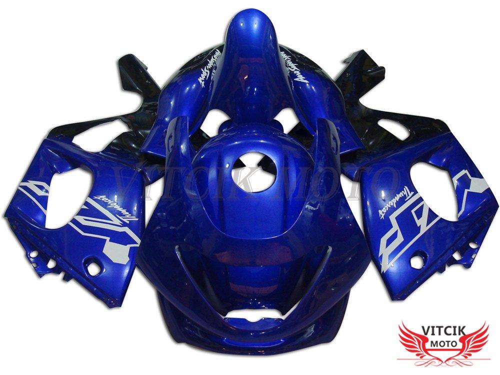 VITCIK (フェアリングキット 対応車種 ヤマハ Yamaha YZF600R Thundercat 1997-2007 YZF 600R 97-07) プラスチックABS射出成型 完全なオートバイ車体 アフターマーケット車体フレーム 外装パーツセット(ブルー) A005   B075GWWQ1W