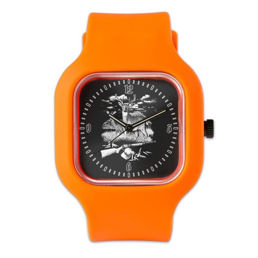 Orange Fashion Sport Watch Deer Hunting Buck Doe Rifle and Hat
