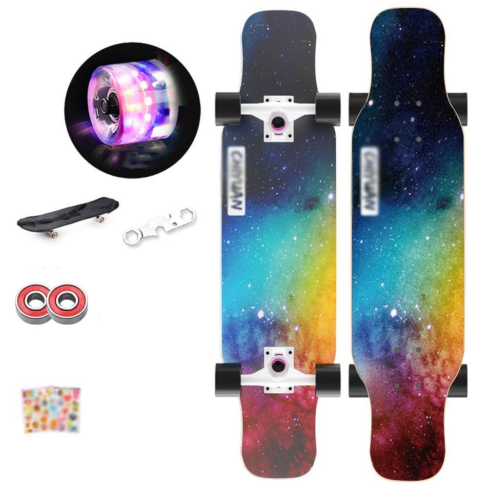 CHENGGUO Skateboard a 4 Ruote a 4 Ruote per Principianti Scooter da 31 Pollici (colore   A)