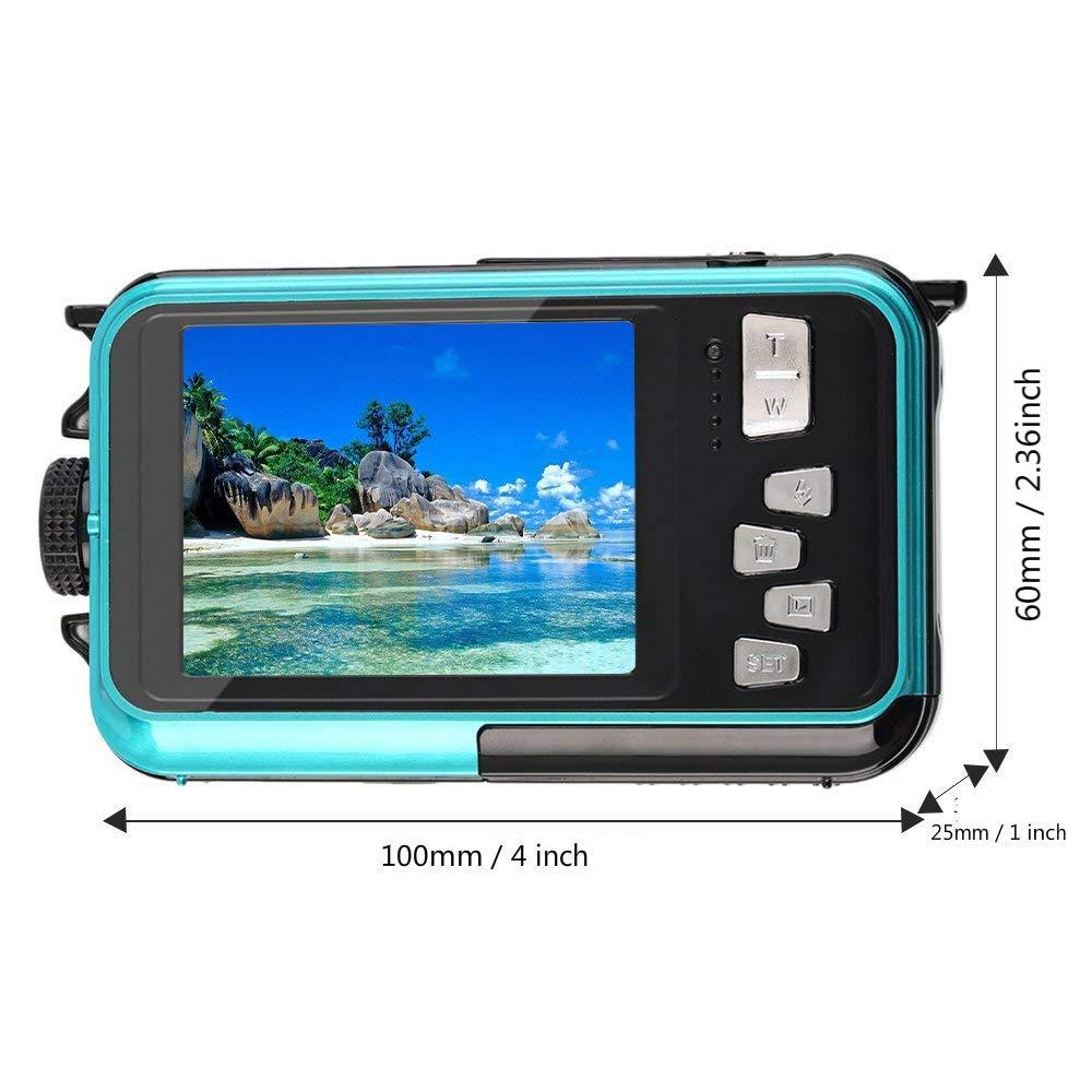 Waterproof Digital Camera for Snorkeling 1080P Full HD Underwater Camera 24 MP Video Recorder by MARVUE