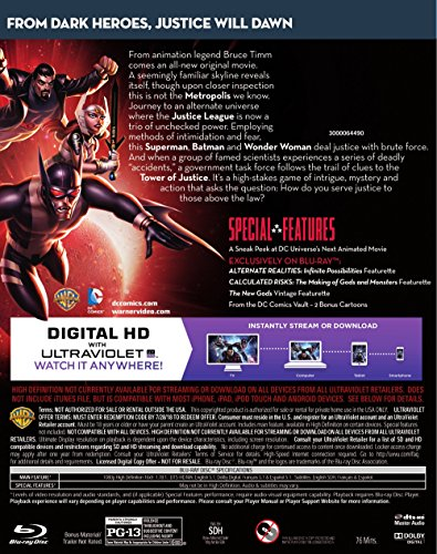 Amazon com: Justice League: Gods and Monsters (Blu-ray + DVD