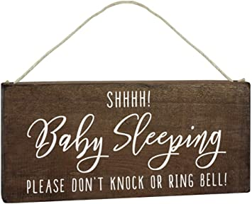 Amazon.com: Letrero para dormir de bebé, para colgar en la ...