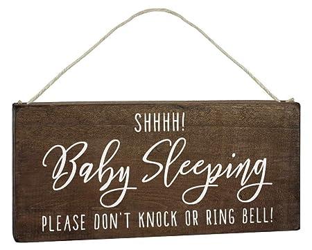 Elegant Signs Letrero de Dormir para Colgar en la Puerta ...