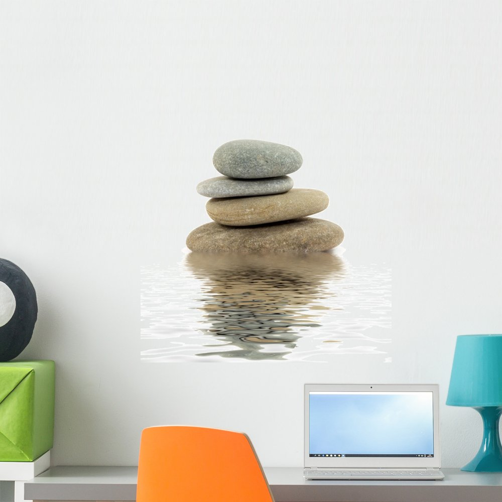 Wallmonkeys Zen Spa Stones Studio Wall Decal Peel and Stick Graphic WM79482 (24 in H x 23 in W)