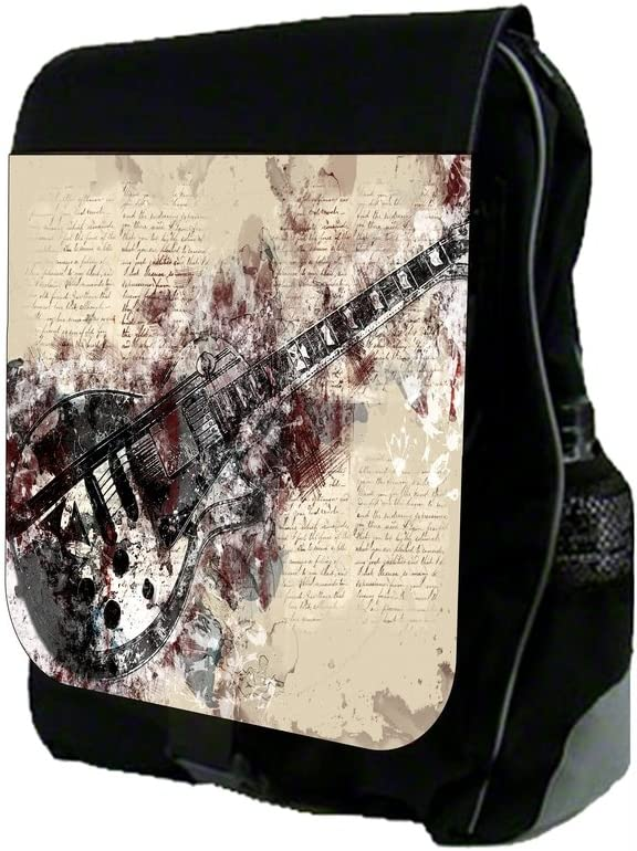 TM School Backpack and Pencil Case Set Electric Guitar Design Rosie Parker Inc