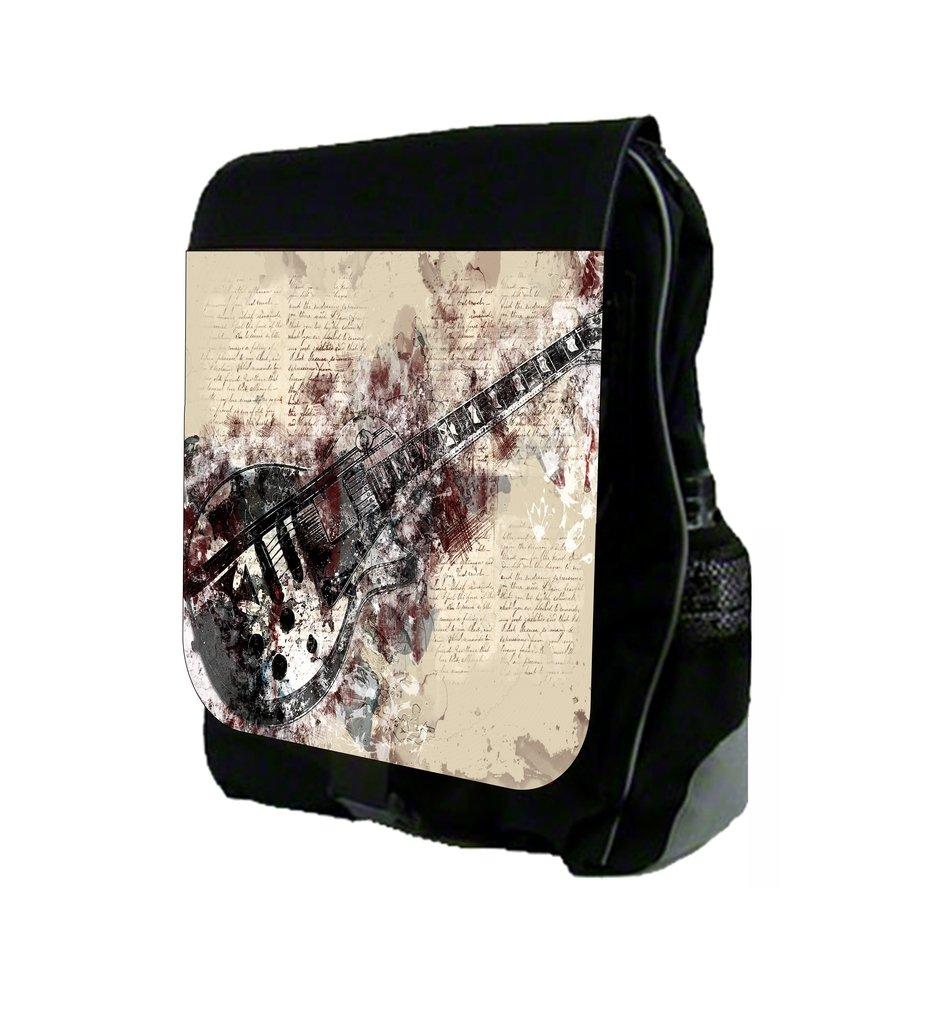 Electric Guitar Design - Rosie Parker Inc. TM School Backpack by Rosie Parker Inc.