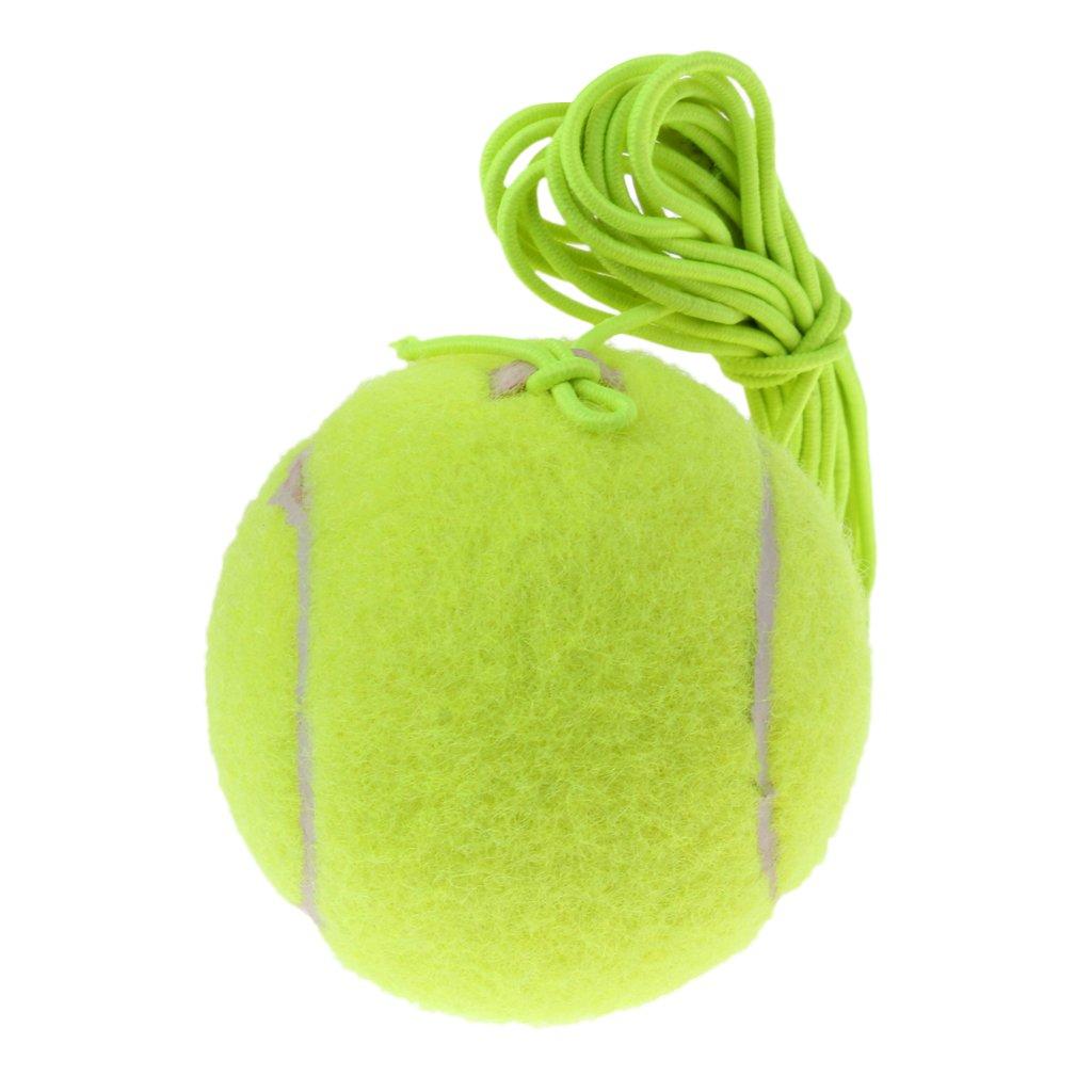 Vert MagiDeal 64mm Balle De Tennis /Élastique Avec Cordon Pour Entra/îneur De Tennis Tennis Trainer Balle