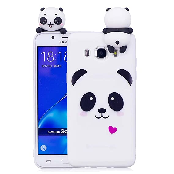 new concept ba1cd 80483 Amazon.com: Aeeque J5 6 Case, Galaxy J5 2016 Case [Panda White] Slim ...