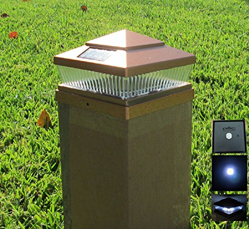 Plastic Copper 6 X 6 Outdoor 5 LED 78Lumens Solar Post Cap Light (set of 6) by Xiong's Trading
