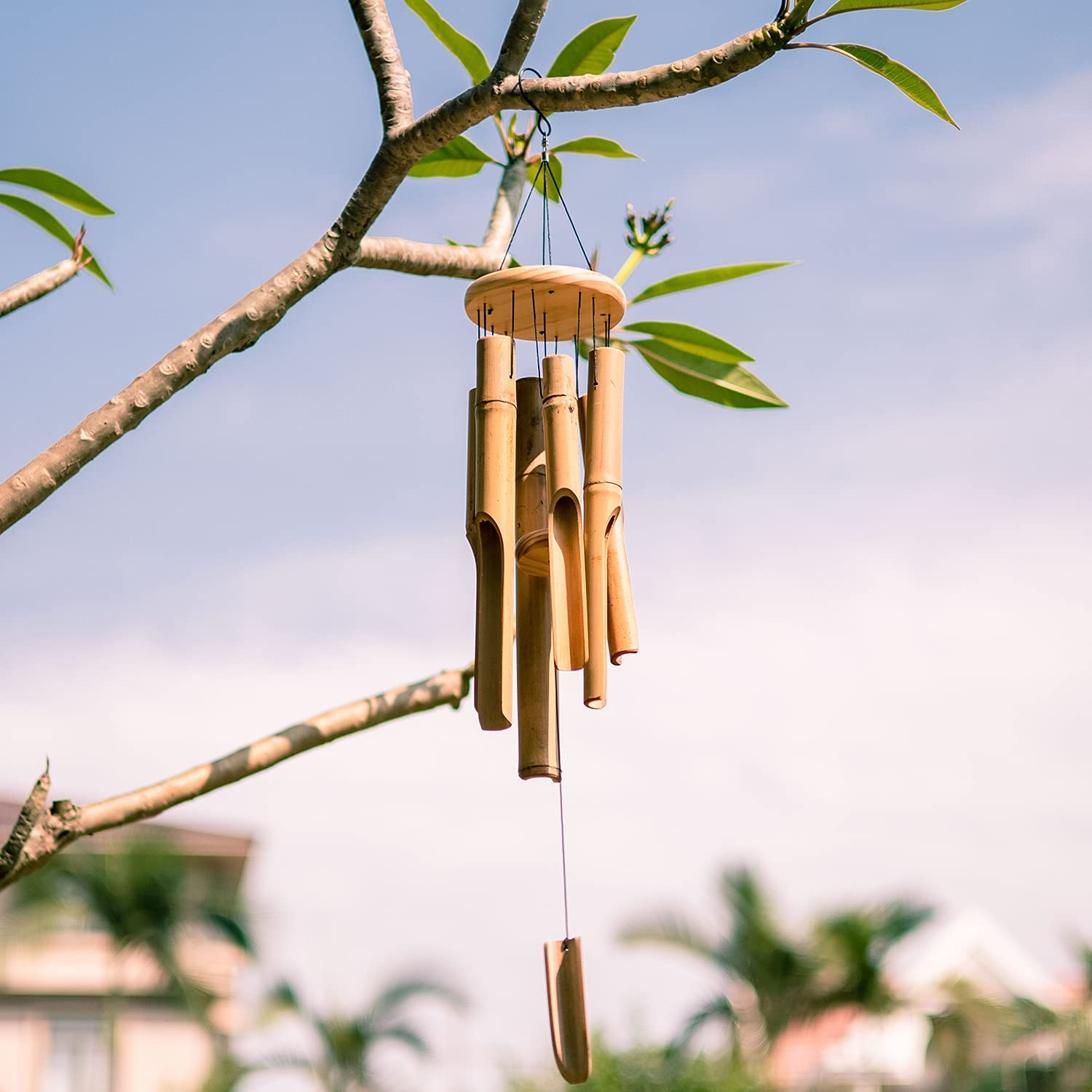 VEWOGARDEN Bamboo Wind Chime Outdoor 30