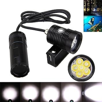 Tauchen Taschenlampe Unterwasser Taschenlampe Batteriebetrieb Superhell Licht