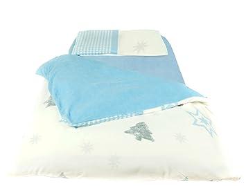 Polarstern Flanell Fleece Kinderbettwäsche Engel Einzelbett 3 Tlg