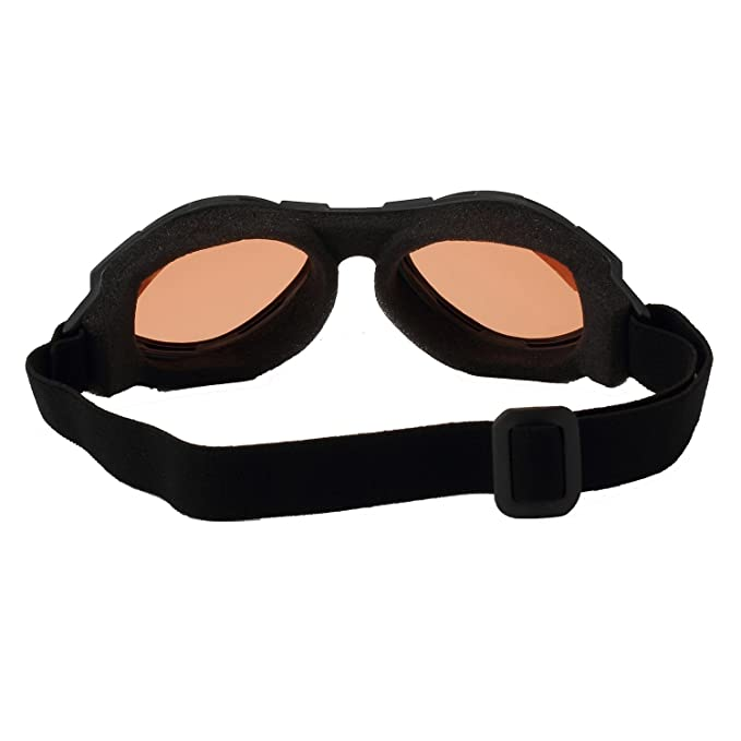 Amazon.com: Bobster anteojos Bugeye, marco negro/amber lens ...