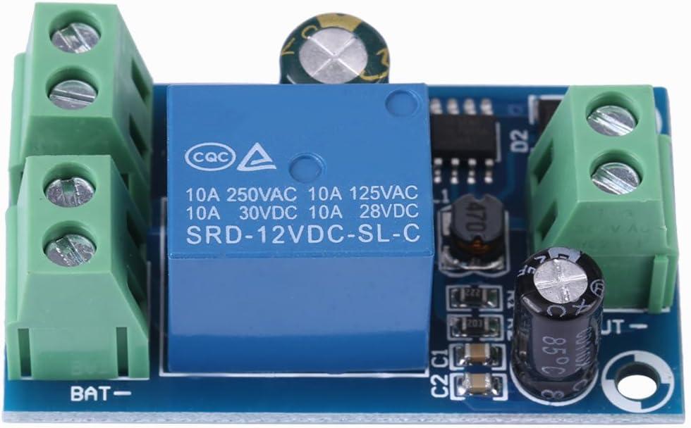 Jinxuny Fuente de alimentación Regulador de batería Módulo de Interruptor automático de Emergencia DC 12V 24V 36V 48V 10A