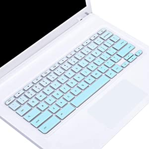 "Keyboard Cover Skin for 2019/2018 Acer Chromebook R11 11.6 / Chromebook 11 CB3-131 CB3-132 / Chromebook R 11 CB5-132T / 13.3"" Chromebook R 13 CB5-312T /Chromebook 15 CB5-571 CB3-531,Gradual Mint Green"