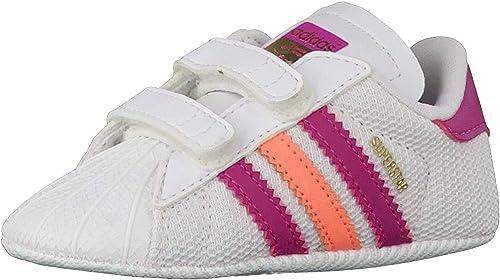 Dislocación lealtad Rebaja  adidas originals superstar shelltoe baby girls white pink crib shoe (UK 1):  Amazon.co.uk: Shoes & Bags