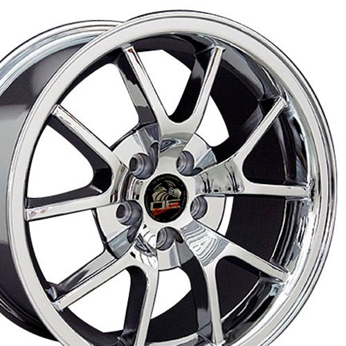 18x9 Wheel Fits Ford Mustang - FR500 Style Chrome Rim