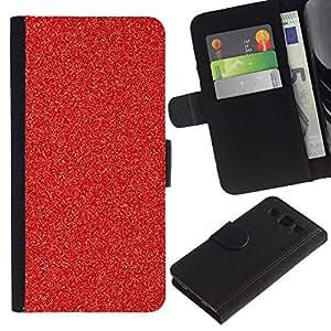 Paccase / Billetera de Cuero Caso del tirón Titular de la tarjeta Carcasa Funda para - Christmas Decoration Glitter Sparkle - Samsung Galaxy S3 III I9300